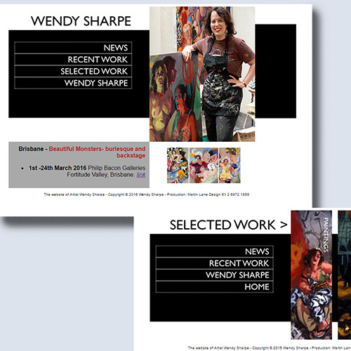 The website of Wendy Sharpe
